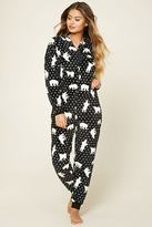 Forever 21 FOREVER 21+ Fleece Polar Bear PJ Jumpsuit