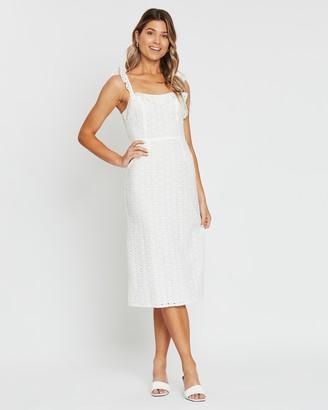 Atmos & Here Lara Ruffled Broderie Dress