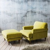 Graham and Green Hamilton Armchair And Footstool