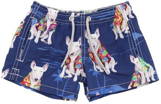 MC2 Saint Barth Dog Print Nylon Swim Shorts