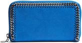 Stella McCartney Falabella zip-around faux-suede wallet
