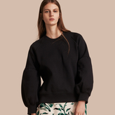 Burberry Brushed-back Jersey Sweatshirt with Bell Sleeves