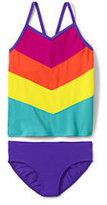 Lands' End Girls Slim Tankini Swimsuit Set-Capri Aqua
