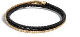 John Hardy Men's Chain Triple Wrap 2.5MM Bracelet, 18K Gold , Leather