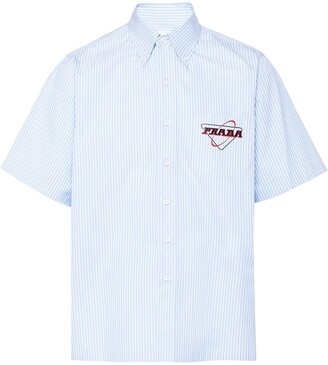 Prada striped Oxford button down shirt