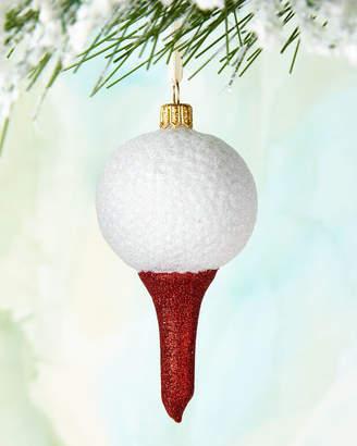 Golf Ball on Tee Ornament