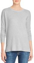 Aqua Cashmere High/Low Crewneck Cashmere Sweater