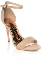 True Decadence Metallic Heel Glitter Sandal