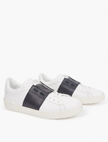 Valentino Contrast Stripe Leather Sneakers