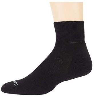 Smartwool Athletic Light Elite Mini (Black) No Show Socks Shoes