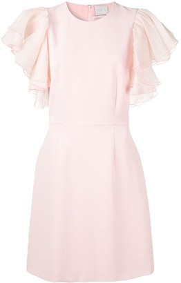 Ingie Paris Ruffled Sleeve Dress