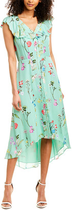Parker Raven Silk-Blend Midi Dress