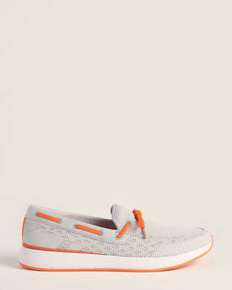 Swims Alloy & Orange Breeze Wave Lace Mesh Loafers