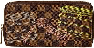 Louis Vuitton Damier Ebene Trunks & Bags Canvas Zippy Wallet