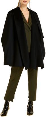 Marina Rinaldi Plus Size Sakai Double-Wool Cape with Hood