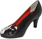 T.U.K. Women's Day Of The Dead Kitty Heel Slide Pump