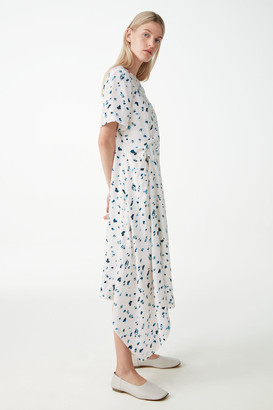 Cos Knot Detail Droplet Print Dress