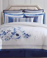 Charisma Alfresco Cotton Reversible 4-Pc. Floral California King Duvet Cover Set