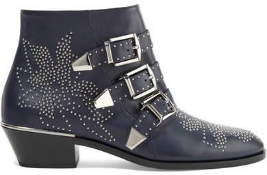fd84b59d Susanna Studded Leather Ankle Boots - Midnight blue