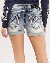 Miss Me Women's Cuffing Season Mid-Rise Shorts