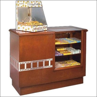 Bass Hardwood Concession Counter Film Strip Accent: Yes, Wood Finish: American Cherry