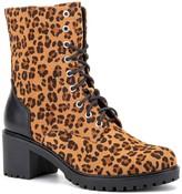OLIVIA MILLER Joyride Cheetah Lug Sole Combat Boot