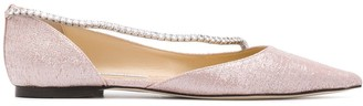 Jimmy Choo Trude crystal-embellished ballerina shoes