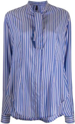 Unravel Project Tie Neck Shirt