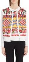Dolce & Gabbana Women's Print Silk Cardigan