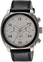 Esprit ES107551001 - Men's Watch, Leather, Black Tone