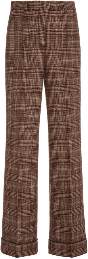 Thumbnail for your product : Akris Women's Flore Wool Wide-Leg Pants - Brown - Moda Operandi
