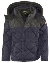 Scotch Shrunk Navy Quilted Coat