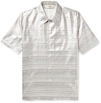 Séfr Striped Silk-Blend Shirt