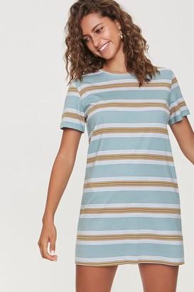 Forever 21 Striped Crew T-Shirt Dress