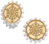 BaubleBar Port Button Imitation Pearl Stud Earrings