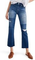 Madewell Women's Cali Ripped Demi Bootleg Crop Jeans