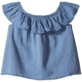 Polo Ralph Lauren Chambray Top Girl's Clothing