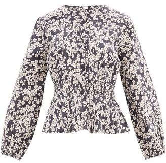 Merlette New York Dorset Floral-print Cotton-poplin Blouse - Black Print