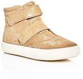 Old Soles Girls' Space Shoe Metallic Python-Embossed High Top Sneakers - Toddler, Little Kid