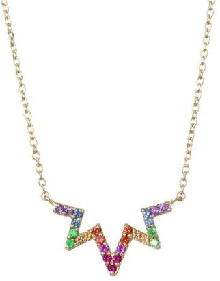 Anzie Multicolored Sapphire & 14K Yellow Gold Necklace