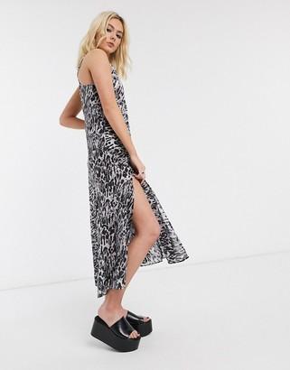 AllSaints essie ambient leopard print slip maxi dress