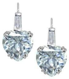 Lord & Taylor Cubic Zirconia Heart Earrings