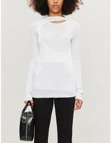 Helmut Lang Layered ribbed cotton-jersey T-shirt