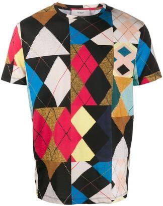 Pringle Reissued patchwork cotton T-shirt