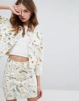 Monki Floral Print Jacket