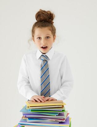 Marks and Spencer 3pk Girls' Longer Length Easy Iron School Blouses