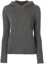 Max Mara knit hooded top