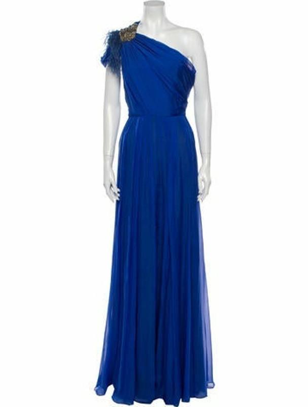 Matthew Williamson Silk Long Dress Blue