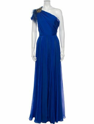 Matthew Williamson Silk Long Dress Blue