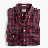 J.Crew Slim Secret Wash shirt in red-and-green tartan heather poplin